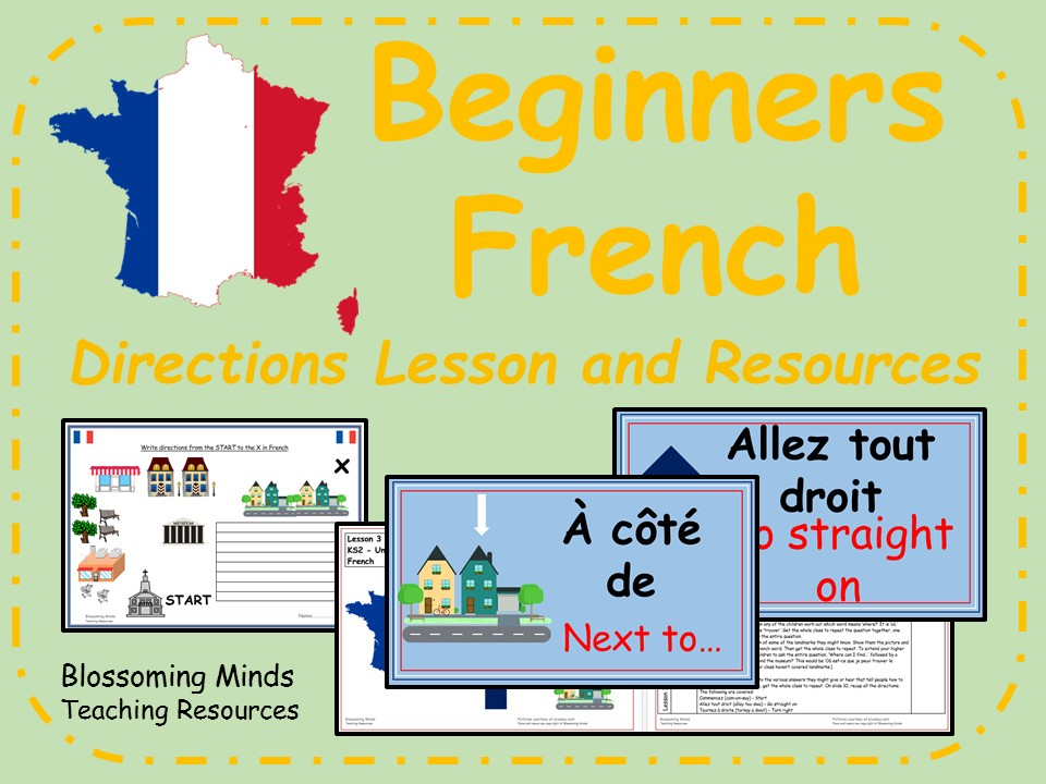French lesson and resources - KS2 - Directions