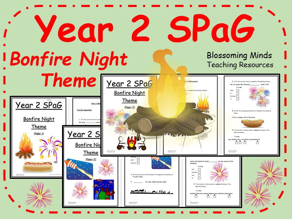 Year 2 SPaG booklets - Bonfire Night Theme