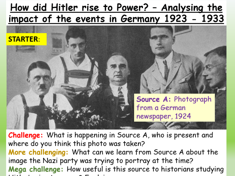 Hitler + Nazi Rise To Power