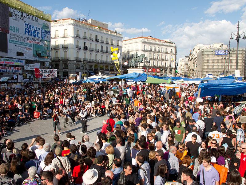 15-m: Protesta social de jóvenes en España
