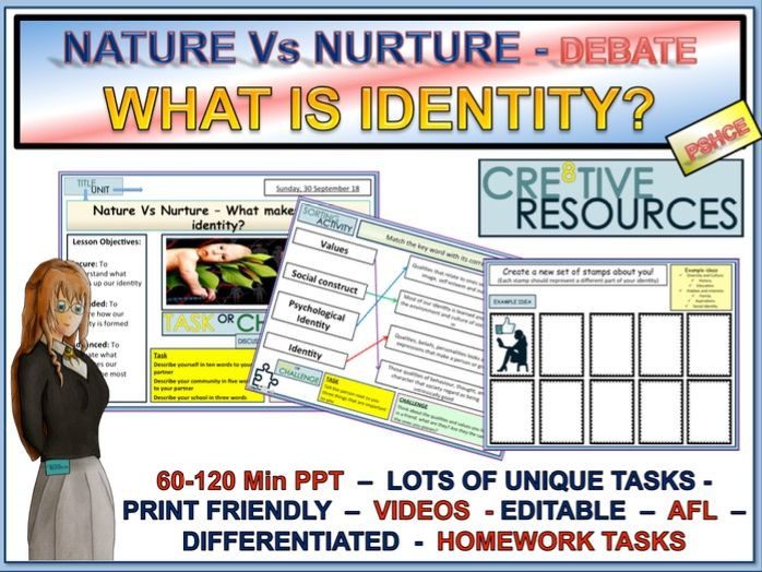 What is Identity? Nature Vs Nurture Socialisation