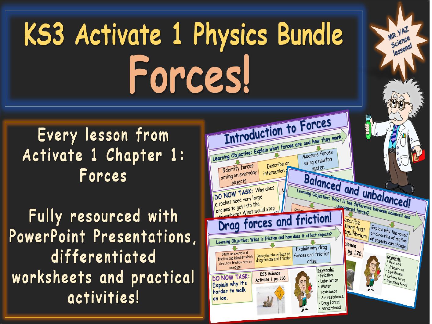 Forces Activate 1 KS3 Science bundle