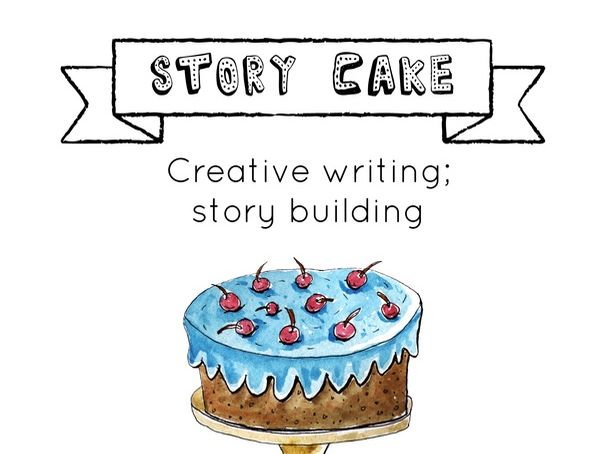'Story Cake' - Creative Writing; Story Building Activity Pack with writing tool kit  prompt cards