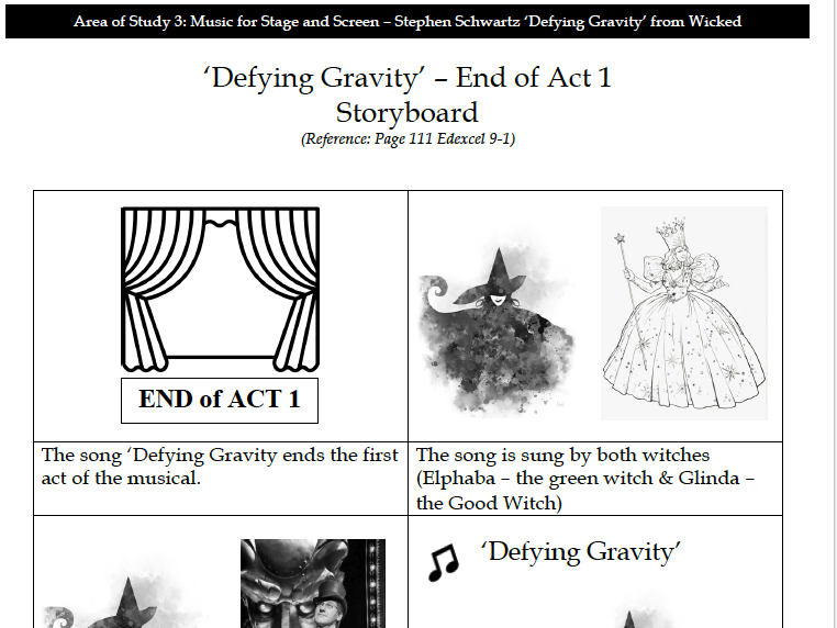 AO3 Schwartz 'Defying Gravity' - Complete Workbook (20 Pages)