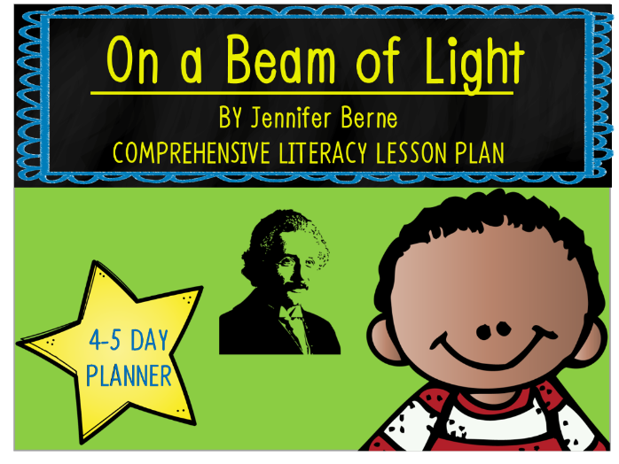 On a Beam of Light by Jennifer Berne 4-5 Day Lesson Plan