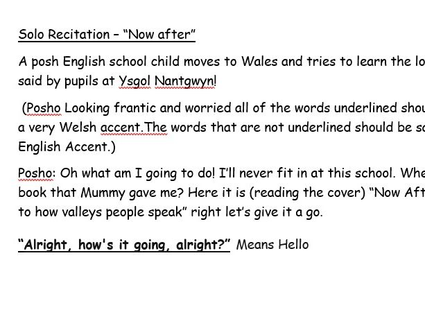 Two Welsh Comedy Scripts - Perfect for Eisteddfod or Cross Curricular Project