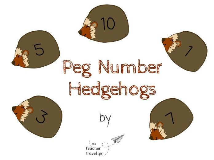 Peg Number Hedgehog Activity
