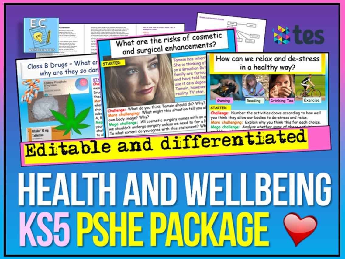 KS5 PSHE Health and Wellbeing