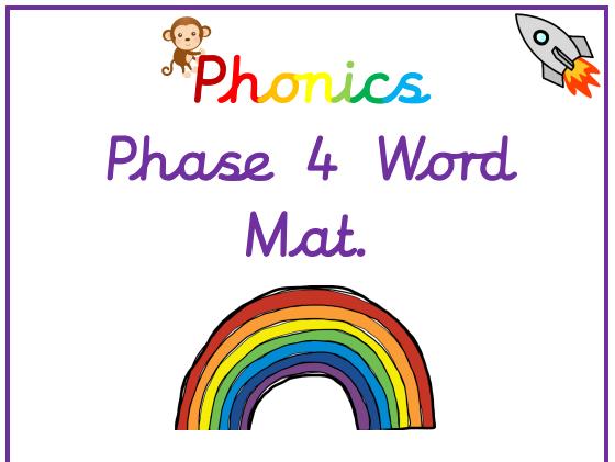 Phonics Phase 4 Word Mat