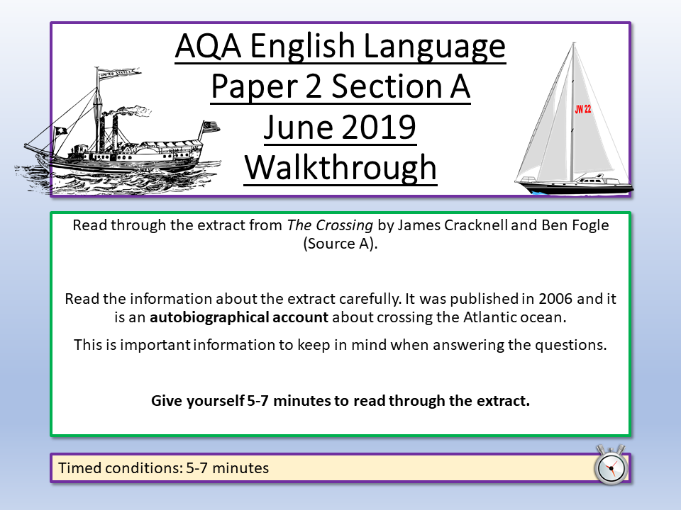 AQA English Language Paper 2 June 2019