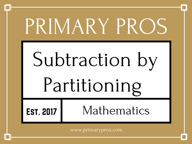 Subtraction by partitioning