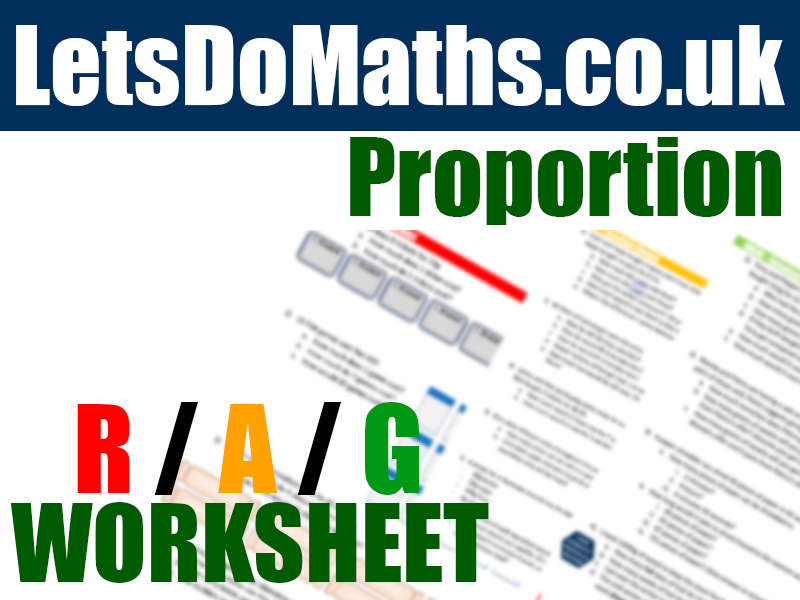Proportion - Unitary Method Differentiated Worksheet 2