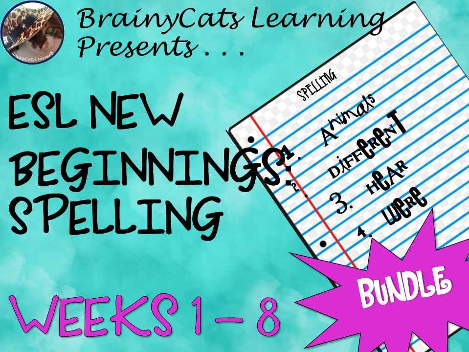 ESL NEW BEGINNINGS:  Spelling BUNDLE