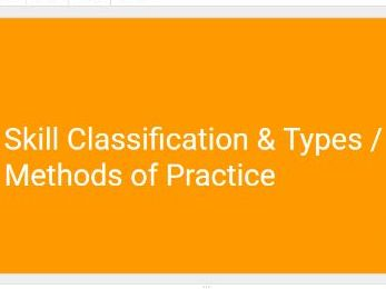 A-Level PE (OCR) Skill Classification (PowerPoint and Full Resources)