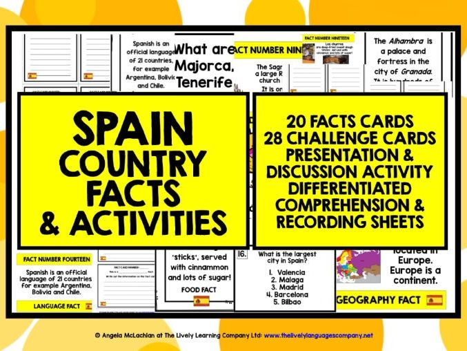 PRIMARY SPANISH FACTS ACTIVITIES 1