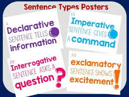 Sentence Types and Sentence structures KS3 or KS4