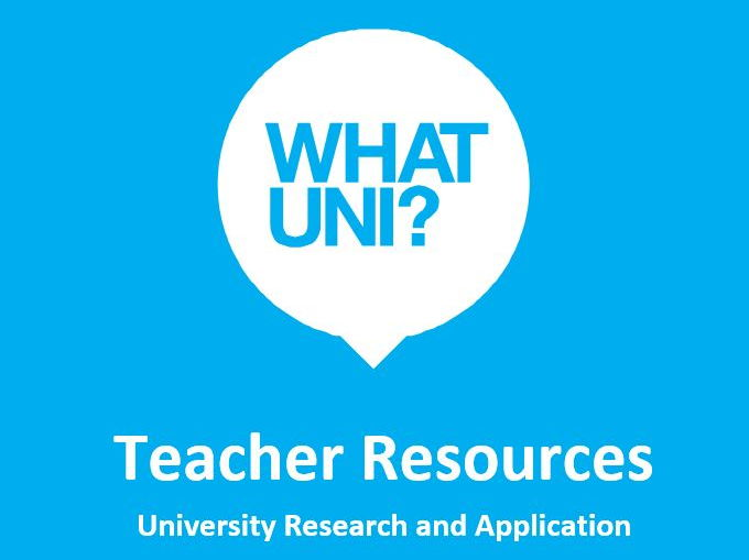 Whatuni Scheme of Work - University Research and Application (UCAS)