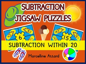 SUBTRACTION ACTIVITIES: SUMMER THEME SUBTRACTION PUZZLES: SUBTRACTION CENTER
