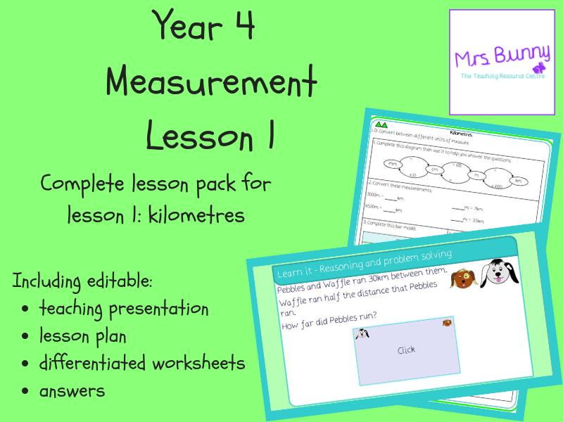 1. Measurement: kilometres lesson pack (Y4)