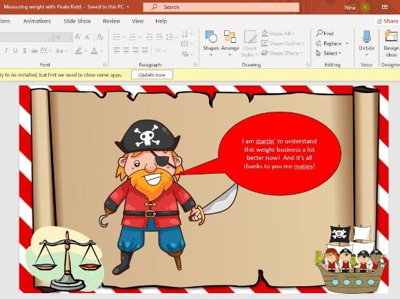 Measuring weight with Pirate Kidd PP
