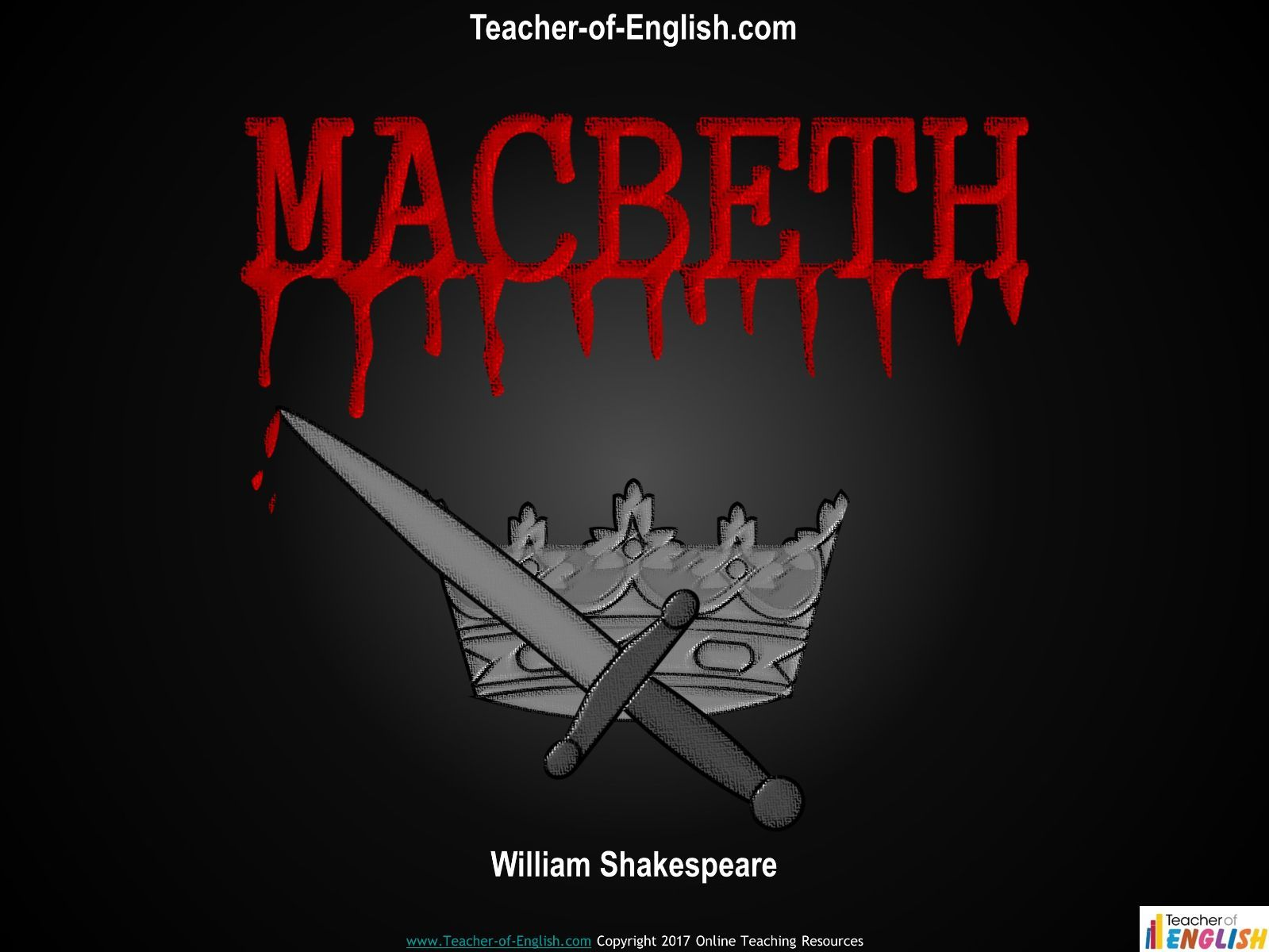 Macbeth Teaching Bundle (PowerPoint, worksheets and lesson plans)