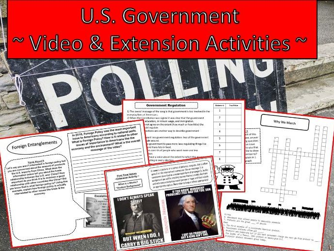 U.S. Government: Video & Extension Activities
