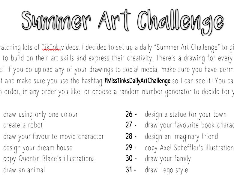 Summer Art Challenge - TikTok Style!