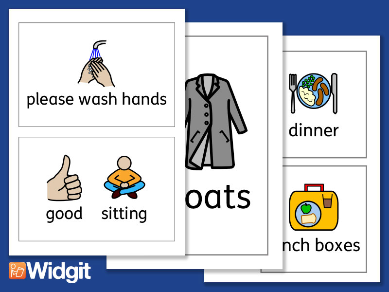 Rules and Behaviour Signs - with Widgit Symbols