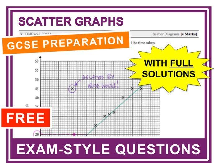 GCSE 9-1 Exam Question Practice (Scatter Graphs)