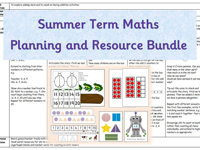 Maths Planning and Resource Bundle - White Rose/Numberblocks Summer Term
