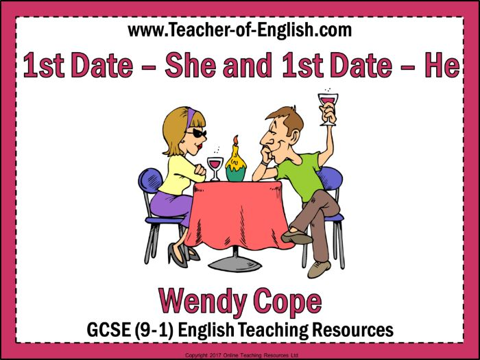 1st Date - She and 1st Date - He (35 slide PowerPoint and 5 worksheets)