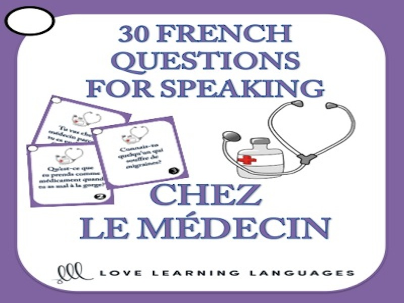 French Speaking Questions - Chez le Médecin - Doctor and Hospital Vocabulary