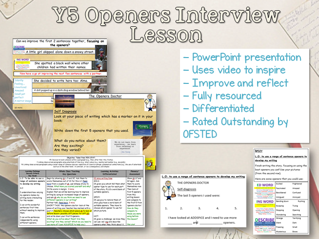 Outstanding Y5/6 English Interview Lesson - Openers