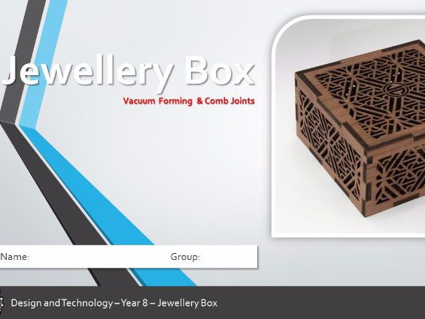 KS3 Comb Joint Laser Cut Jewellery Box - Powerpoint (9 Lessons)
