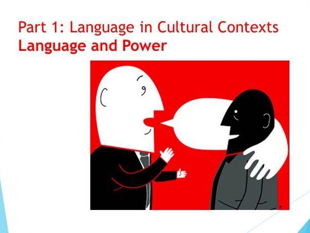 IB Language and Literature Part 1: Language and Power