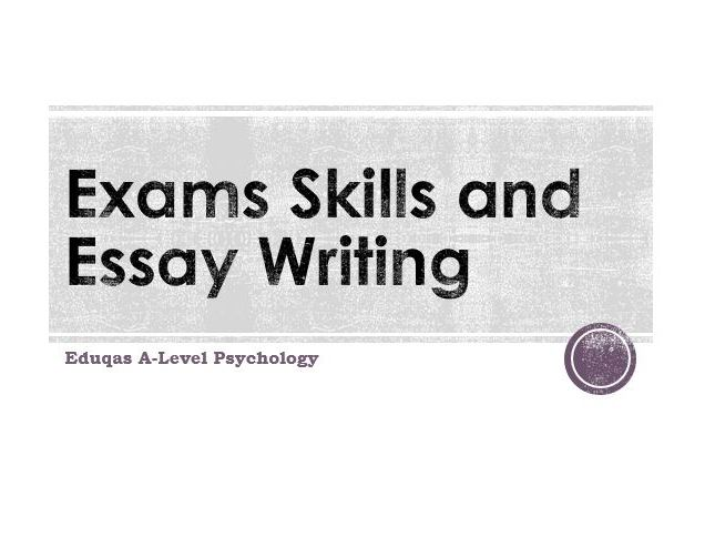 WJEC Eduqas A-Level Psychology Exam technique and assessment objectives workbook