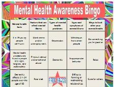 Mental Health Awareness Bingo