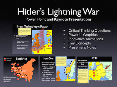 Hitler's Lightning War 1939-1941 Power Point and Keynote Presentations