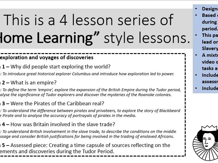 5 Lessons Tudor Exploration and Discovery - HOME LEARNING
