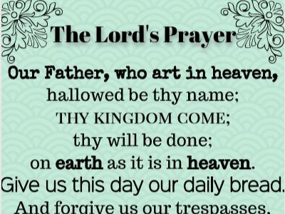 Lord's Prayer (traditional)- printable