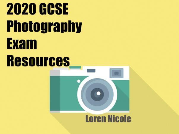 2020 GCSE Photography Exam Resources