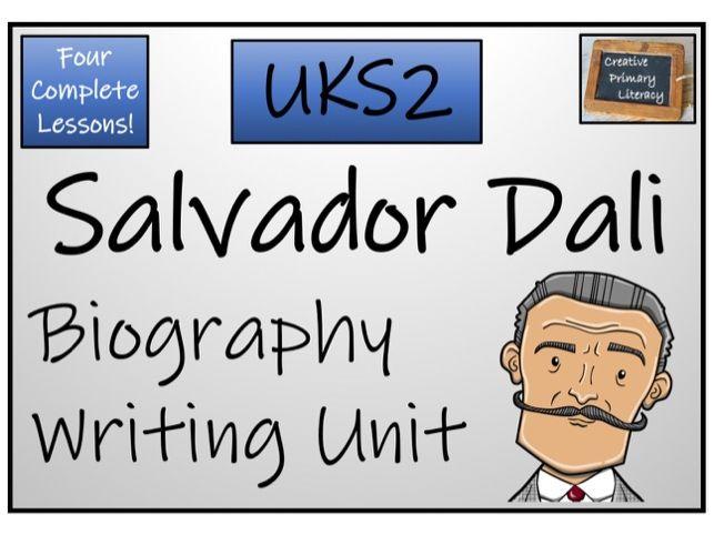 UKS2 Literacy - Salvador Dali Biography Writing Activity