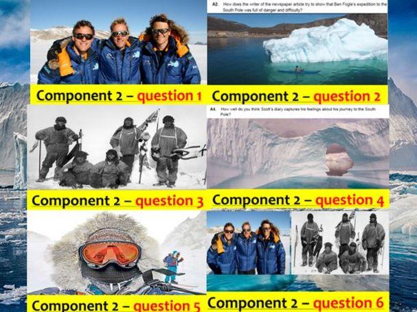 EDUQAS GCSE English Language Paper 2 model answer Q1-Q6 PPoint Autumn 2016 exam (200 slides+podcast)
