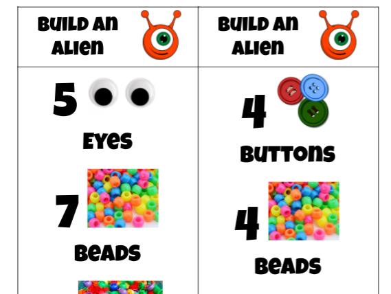 EYFS Playdough play - Build an Alien