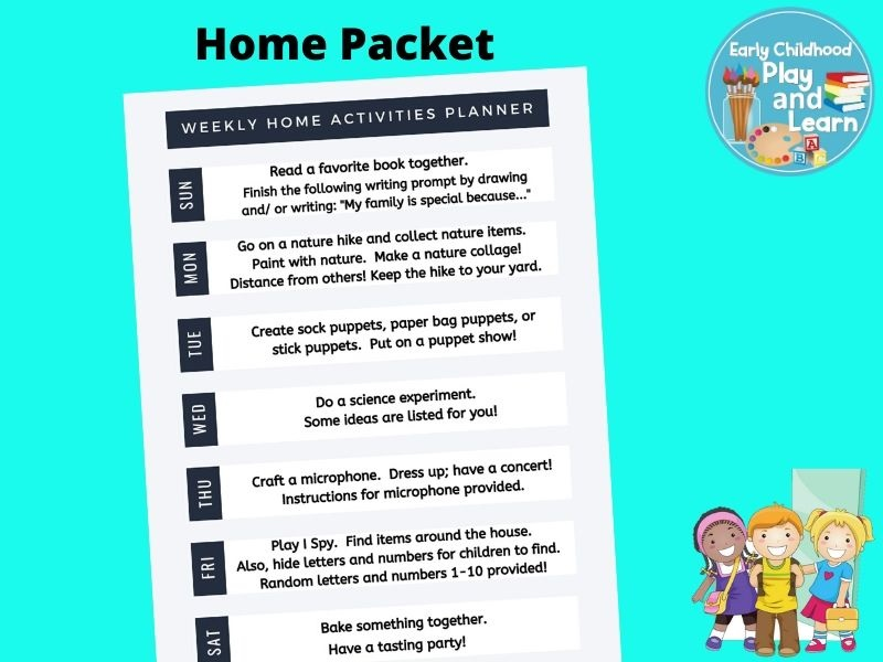 Home Packet Activities for Parents