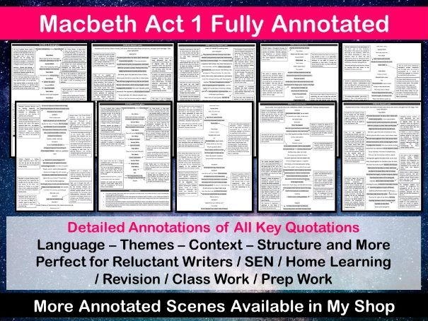 Macbeth Act 1 Fully Annotated