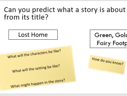 5 Comprehension Lessons on Predicting when Reading