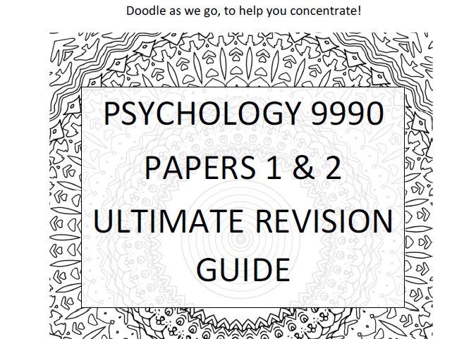 WOW 9990 CIE Psych AS Revision Book