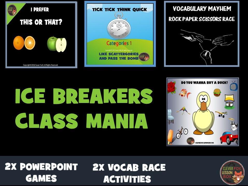 Ice Breakers Class Mania