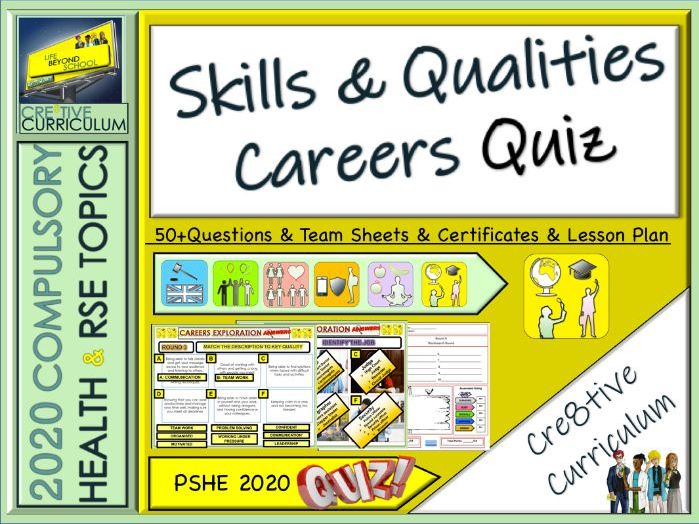 Skills and Qualities Careers Quiz